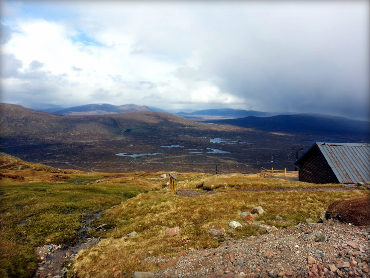 Views of mountains and marshlands from Glencoe